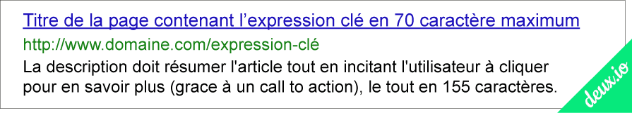 exemple serp google referencement seo description title url