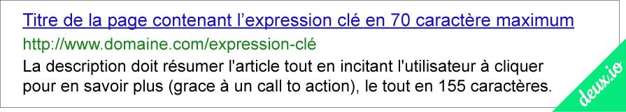 on page seo - resultats sur google