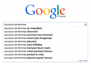 google suggest haut de page