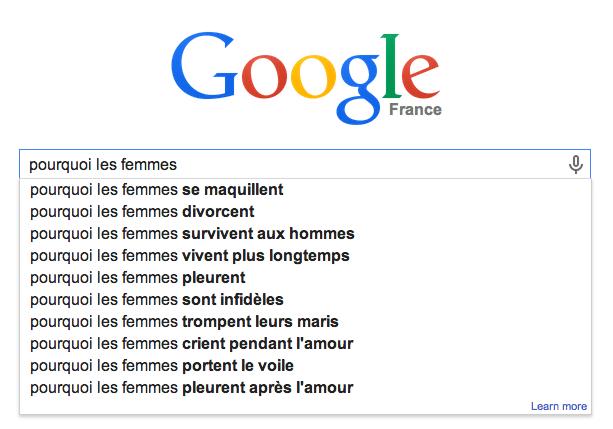 google suggest haut de page