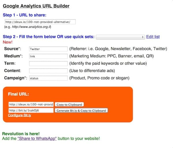 google-analytics-URL-builder