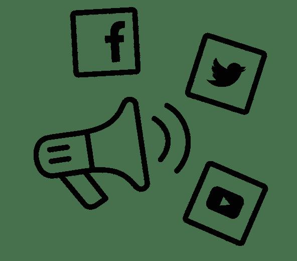 reseaux sociaux pictos