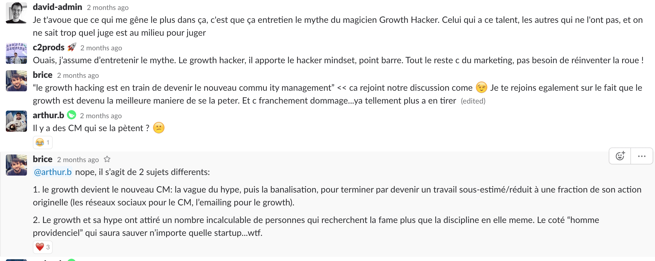 slack definition growth hacking