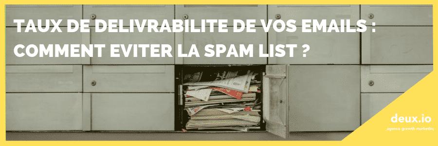 Délivrabilité email spam list