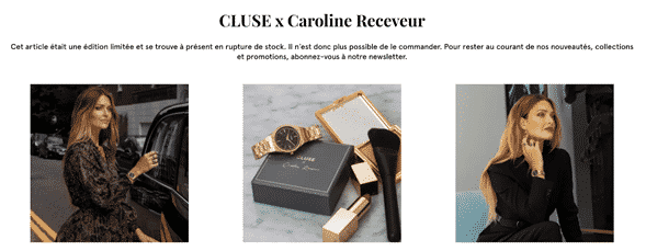 Collaboration Cluse x Caroline Receveur